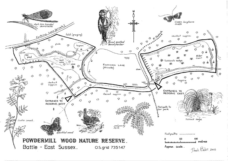 Powdermill Wood Map