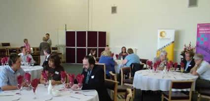 Delegates networking at the Midlands LunchNet 4 Social Enterprise event