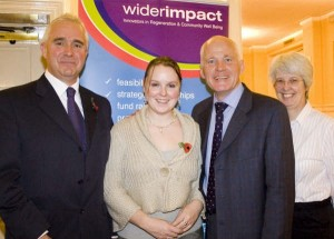 Pictured is keynote speaker MEP, Michael Cashman with members of the Wider Impact Consultancy team.